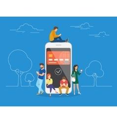 E-wallet concept vector