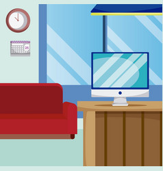 empty living room vector image