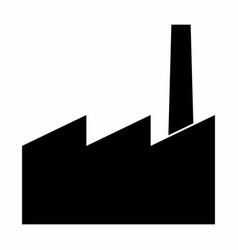factory dark silhouette vector image