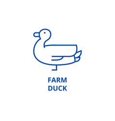 farm duck line icon concept farm duck flat vector image