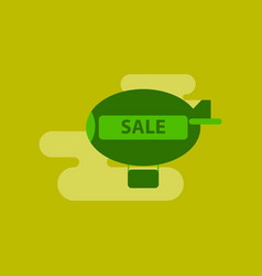 flat icon of air balloon sale vector image
