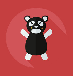 Flat modern design with shadow icons panda crying vector