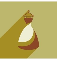 Flat web icon with long shadow wedding dress vector