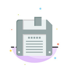 Floppy diskette save abstract flat color icon vector