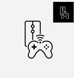 game console icon video gaming joystick vector image