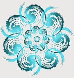 Gently blue flower vector