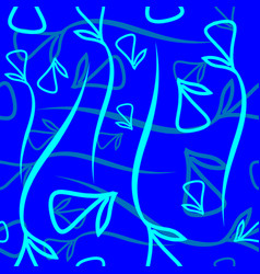 geometric pattern made from plant blue and mint vector image