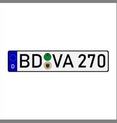 german european union car license plate vector image
