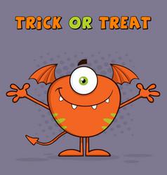 Goofy monster cartoon character vector
