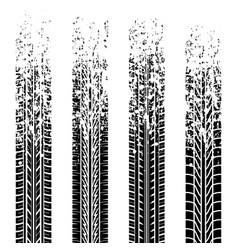 Grunge tire tracks four vector