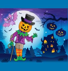 halloween theme figure image 5 vector image