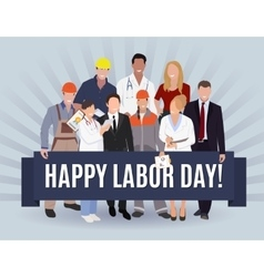 Happy Labor day american banner concept design vector image