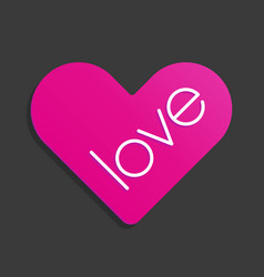heart love symbol sticker icon vector image