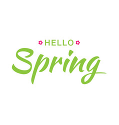 Hello spring banner background with paper flowers vector