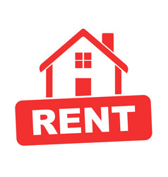 House for rent flat vector