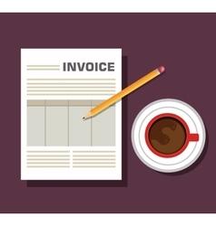 Icon invoice design vector