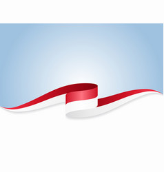 Indonesian flag wavy abstract background vector