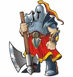 Knight with an axe vector