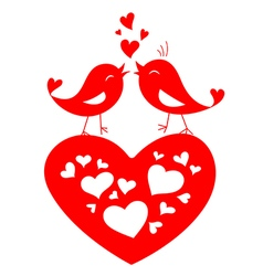 Love birds shape for Valentines day vector image