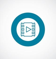Media icon bold blue circle border vector