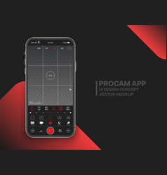 Mobile professional camera ui concept vector