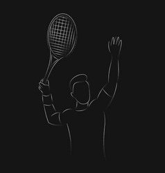 Modern passionate badminton player in action logo vector