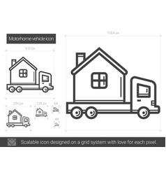 motorhome vehicle line icon vector image