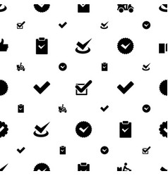 Ok icons pattern seamless white background vector