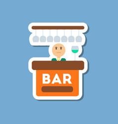 Paper sticker on stylish background poker bar vector