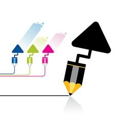 Pencil tool icon vector