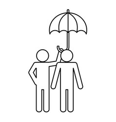 pictogram couple design vector image