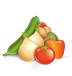 pile of vegetables vector image