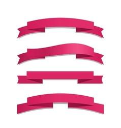 Pink Ribbon Set vector