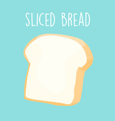 Plain sliced bread vector