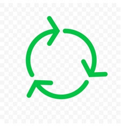 recycling icon green arrow circle bio garbage vector image