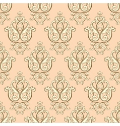Seamless damask pattern Beige texture vector image