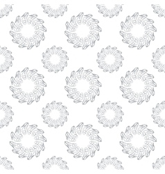 seamless pattern of shoes piled rings vector image