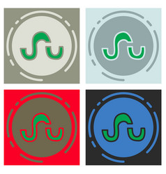 Set of stumbleupon color glossy icon realistic vector