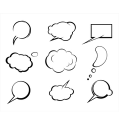 Set speech and thought elements vector