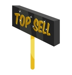 Signpost top sell icon cartoon style vector