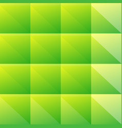 simple green pattern of blocks triangles vector image