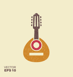 spanish folk music instrument bandurria flat icon vector image