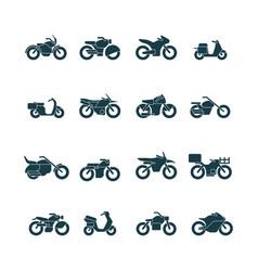 street bikes symbols silhouettes urban vector image