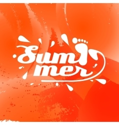 Summer background with the inscription vector