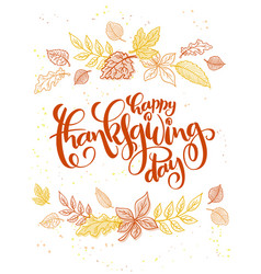 Thanksgiving greeting card with hand vector
