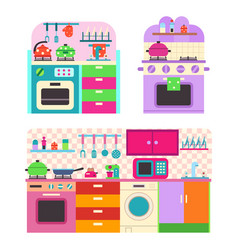 toy kitchen set vector image