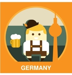 Traditional Germany Resident vector
