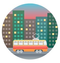 Tram Detailed vector