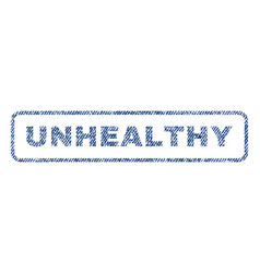Unhealthy textile stamp vector