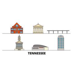 United states nashville flat landmarks vector